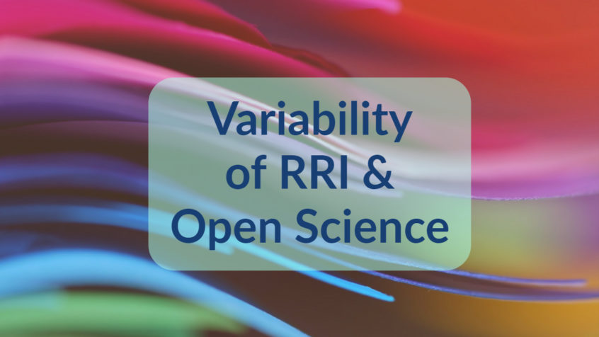 Variability of RRI and Open Science